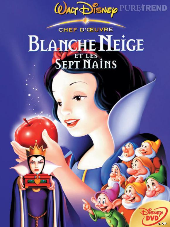 Blanche Neige est la plus rétro de toutes les princesses. Elle coiffe ses cheveux noirs en un chignon bas agrementé d'un leger cranté sur le devant.