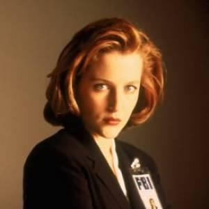 "Gillian Anderson dans son rôle de ""Scully""."