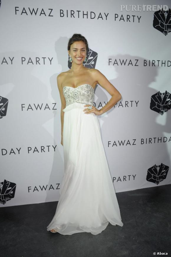 Irina Shayk à la soirée d'anniversaire de Fawaz Gruosi, le 8 août dernier.