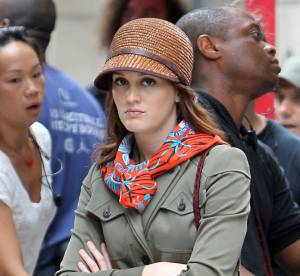 Leighton Meester : un vrai défilé de mode sur le tournage de Gossip Girl