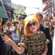 Lady Gaga à Bucarest en Roumanie.