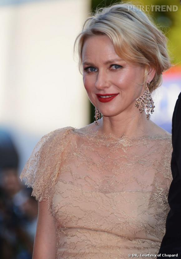 Naomi Watts parée par Chopard pour la Mostra de Venise.