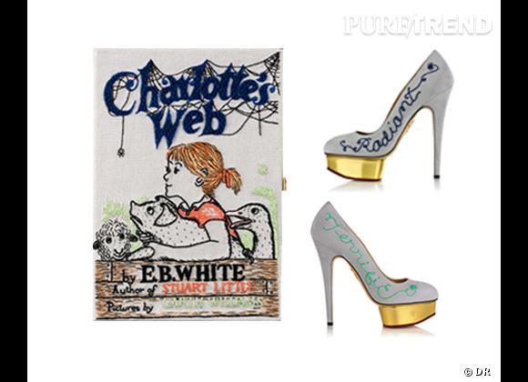 "Collaboration hype : Charlotte Olympia et Olympia Le-Tan présentent ""Charlotte's Web"""