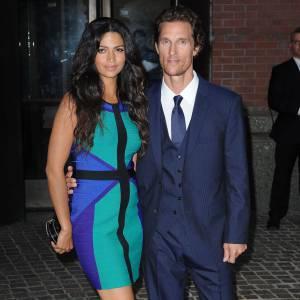 Matthew McConaughey et Camila Alves : mariés depuis le 9 juin 2012.