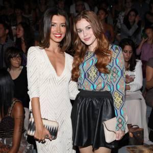 Holland Roden et India de Beaufort au défilé Mara Hoffman durant la Fashion Week de New York 2012.