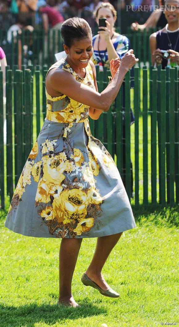 Michelle Obama, toujours prête à danser !