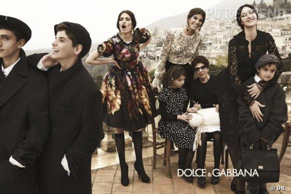 Mannequins italiens : notre top 5      Bianca Balti     Campagne Dolce & Gabbana Automne-Hiver 2012/2013