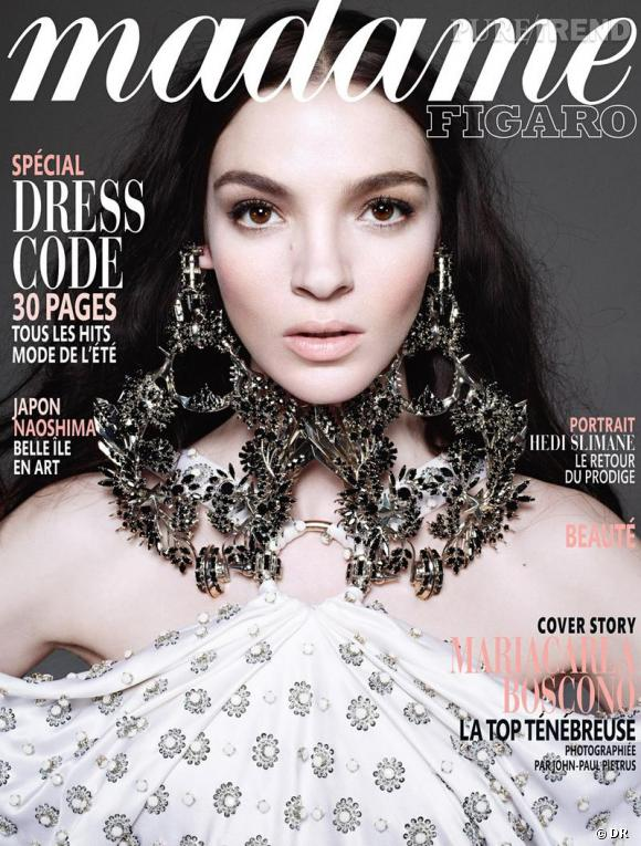 Mannequins italiens : notre top 5      Mariacarla Boscono         Couverture Madame Figaro mars 2012