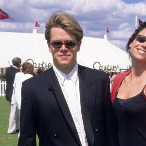 Matt Damon en total look oversize en 1997.