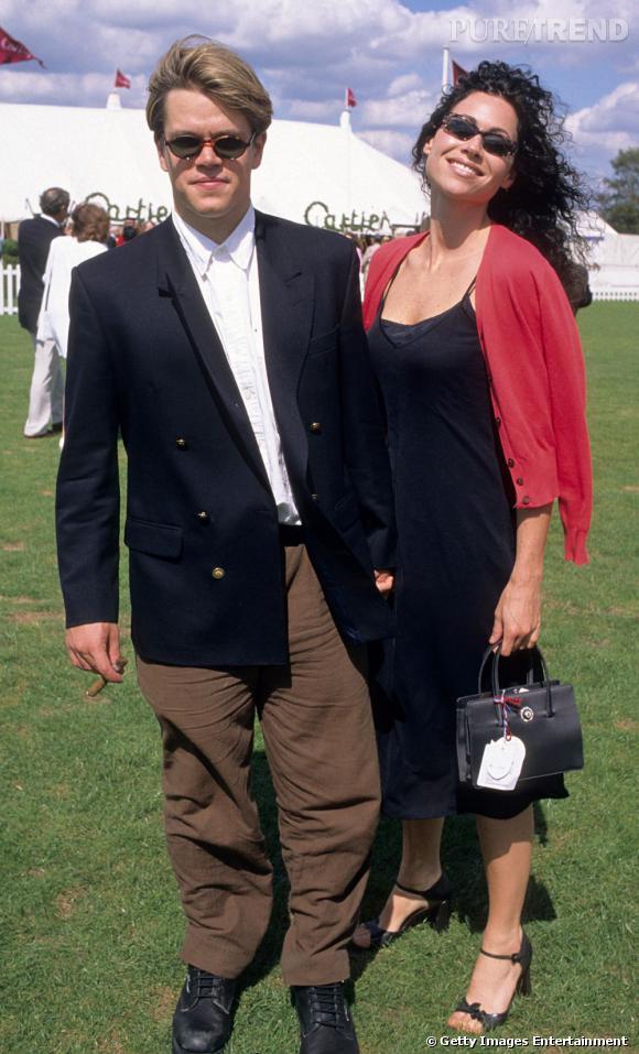 Matt Damon en total look oversize en 1997.