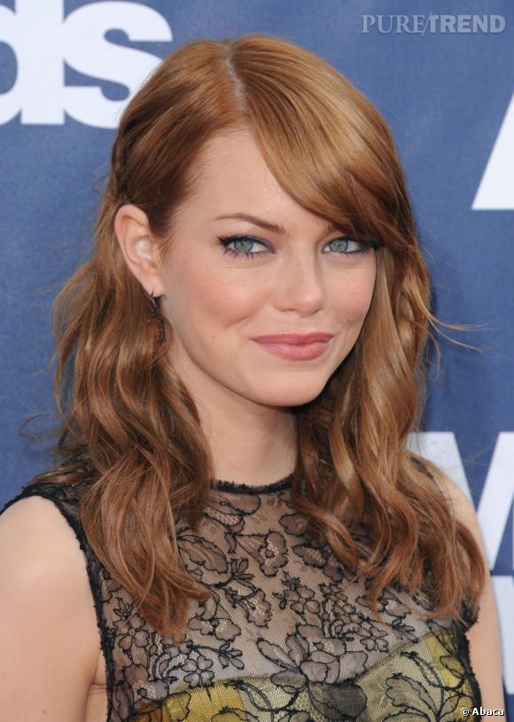 Le meilleur roux :  Emma Stone a fini par nous faire oublier qu'elle était blonde à l'origine avec cette couleur flamboyante qui lui va comme un gant ! Depuis, la star est repassée au blond mais on le regrette.