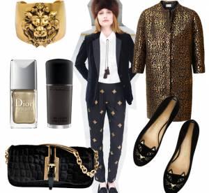 Moodboard un vernis, un style : la tendance noir et or