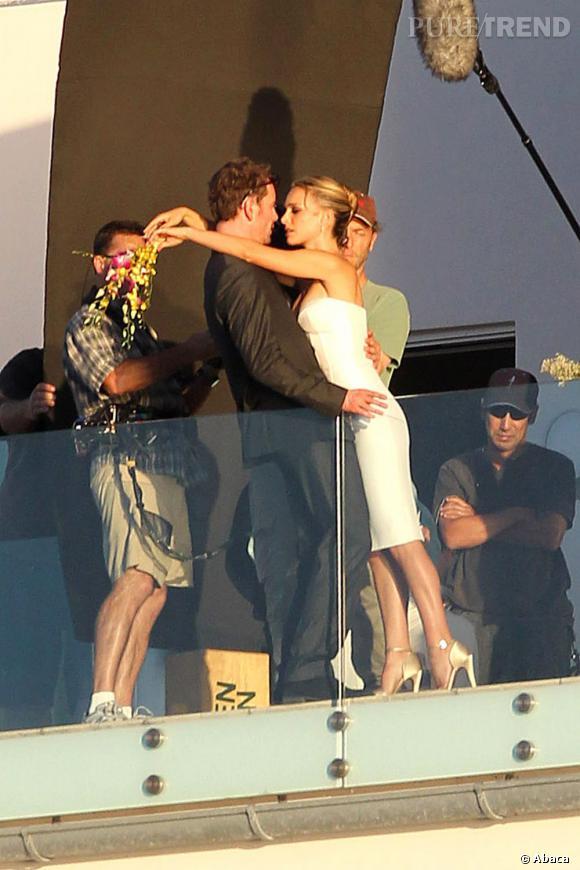 Natalie Portman et Michael Fassbender tournent le prochain film de Terrence Malick.