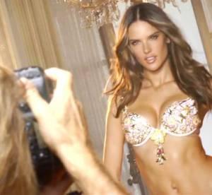 Alessandra Ambrosio : le shooting du Fantasy Bra Floral de Victoria's Secret