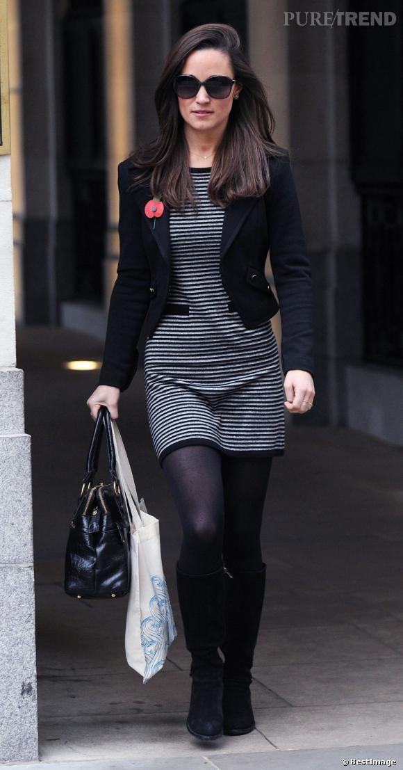 Pippa Middleton à Londres, citadine et sexy.