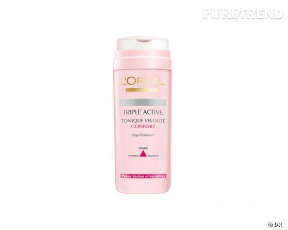 Etape 3 : Le tonique    Triple Active Tonique velouté confort de L'Oréal Paris