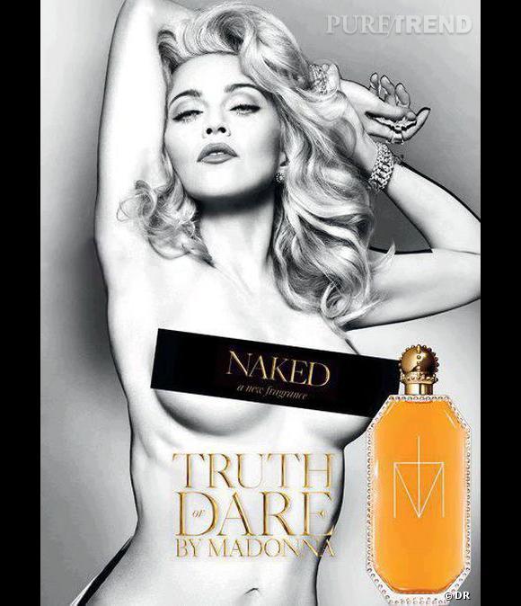 Madonna pose nue pour son nouveau parfum, Naked.