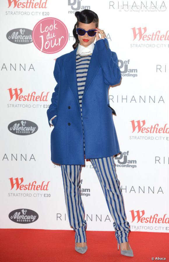 Rihanna va plus loin que le boyish chic : elle enfile carrément des collections homme !