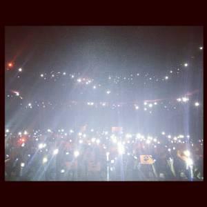 """Ed immortalise le concert sur Instagram avec pour légende """"Paris ! Vous avez été magifiques !!!!!"""""""