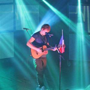Ed Sheeran en concert au Trianon à Paris.