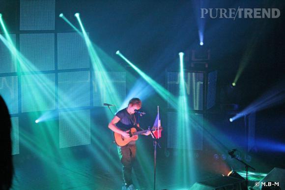 Ed Sheeran en concert au Trianon à Paris.