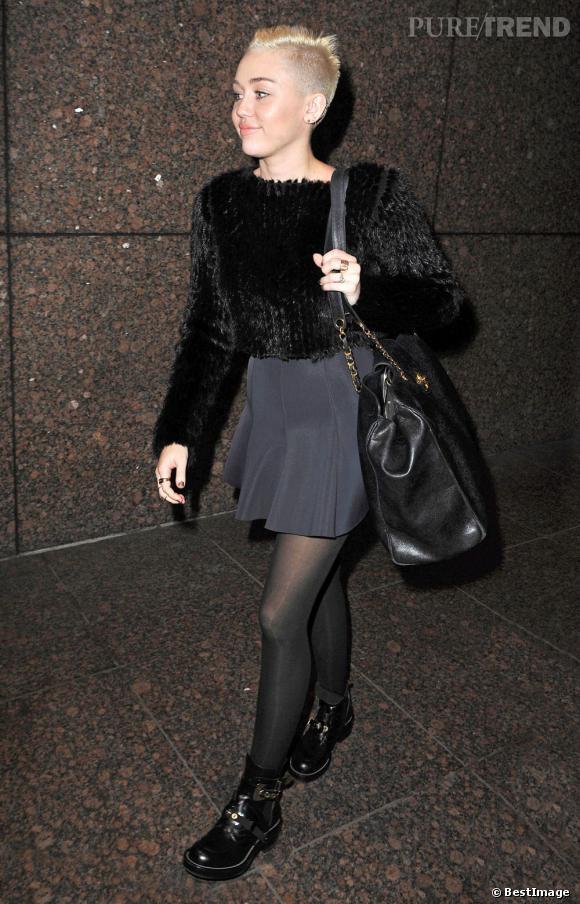 Miley Cyrus dans les rues de New York.