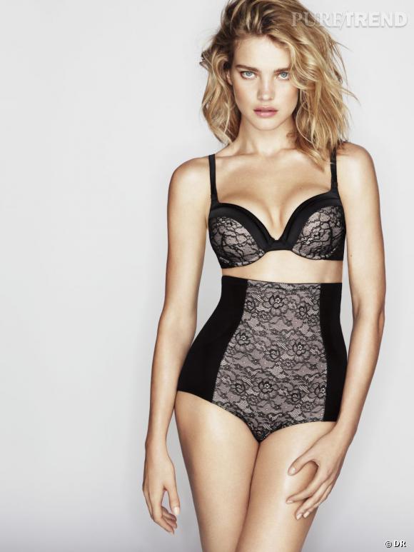 Sélection lingerie : dentelle noire délicate et sexy    Ligne Shapewear modèle Desir, Etam Lingerie