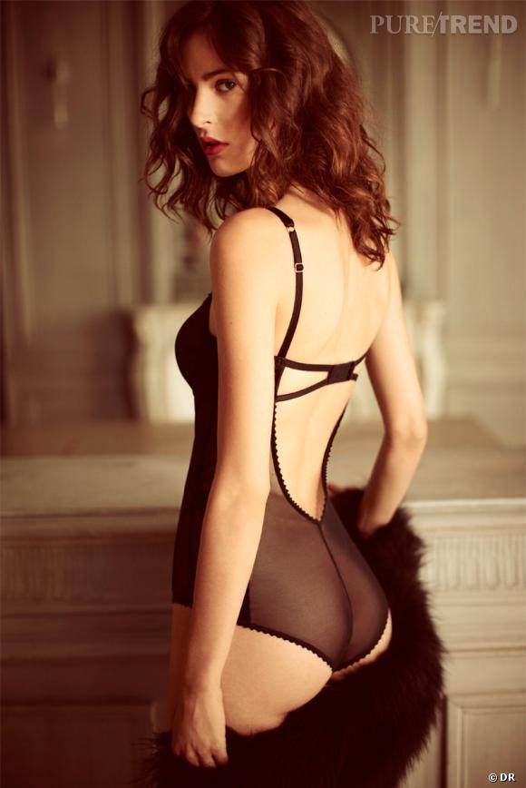 Sélection lingerie : dentelle noire délicate et sexy    Collection Monette
