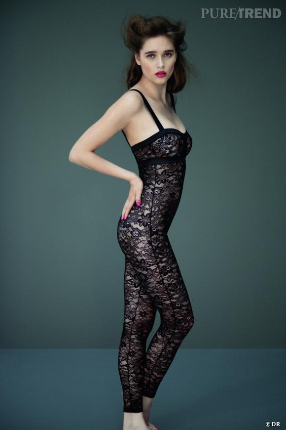Sélection lingerie : dentelle noire délicate et sexy    Léotard Bleuet, Eres, 800 €