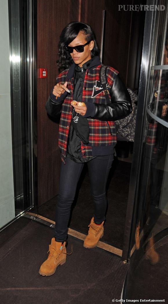 Les it shoes de Rihanna : les boots Timberland ! Un must