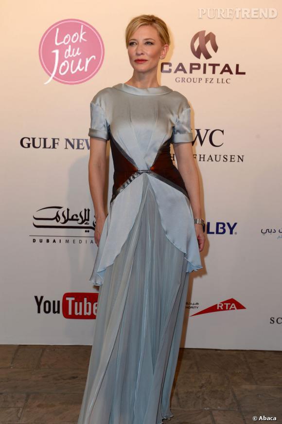 """Cate Blanchett lors de la projection de """"L'Odyssée de Pi"""" au Festival International du Film de Dubaï."""