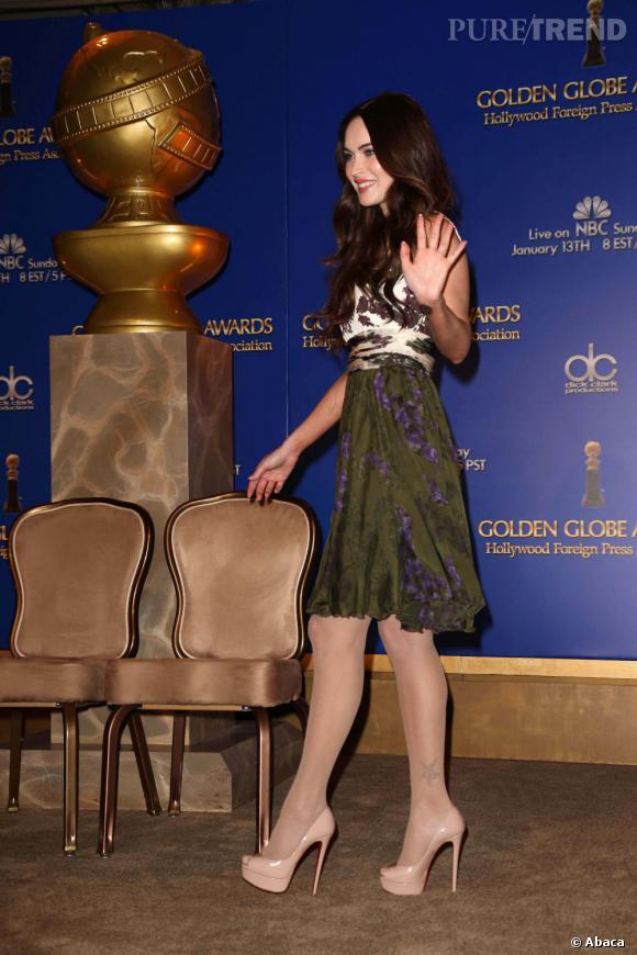 Megan Fox lors de la conférence de presse annoncant les nominés des Golden Globes à Beverly Hills.