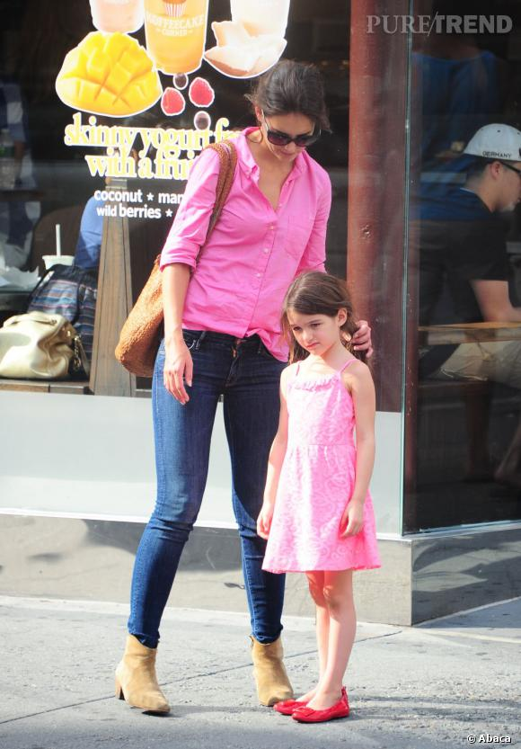 Katie Holmes et Suri Cruise aiment le rose !