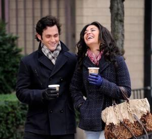 Dan et Vanessa pendant le tournage d'une scène.