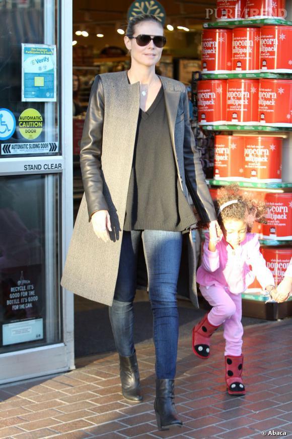 Heidi Klum reste mode, même pour faire les courses !
