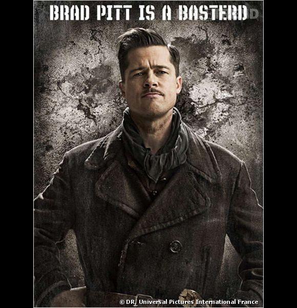 Le Lieutenant Aldo Raine d' Inglorious Basterds  a permis à Brad Pitt de s'essayer à la coupe presque militaire de jeune premier. Mention spéciale pour la fine moustache.