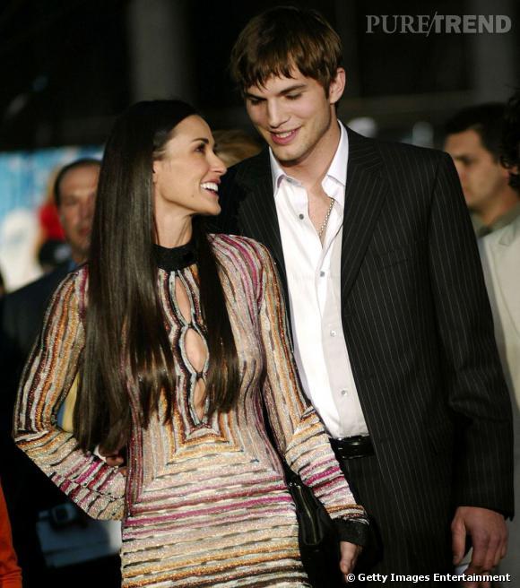 De 2003 à 2011 : Demi Moore est en couple avec Ashton Kutcher qu'elle épouse en 2005 et avec qui elle a désormais du mal à finaliser le divorce.
