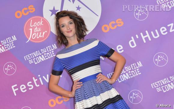 Charlotte Le Bon sur le red carpet du Festival du Film de l'Alpe d'Huez.
