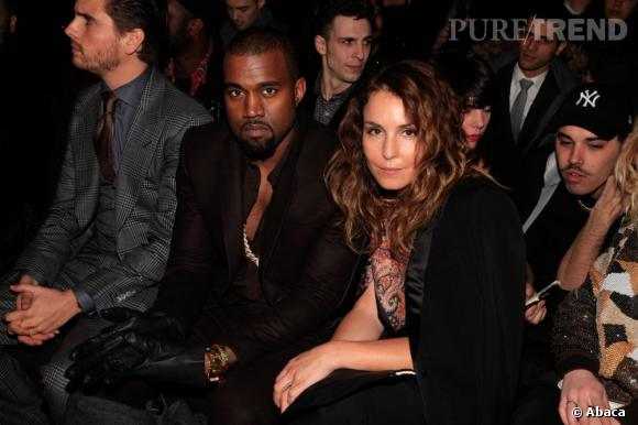 Kanye West et Noomi Rapace chez Givenchy.