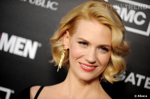 January Jones si glamour en blonde, y revient entre chaque tournage.