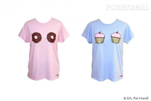 T-shirt Donut et t-shirt Cupcakes, www.fatmandi.bigcartel.com