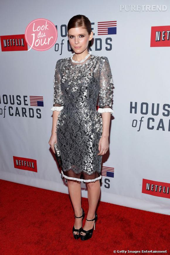 """Kate Mara à la première de """"House of cards"""" à New York."""