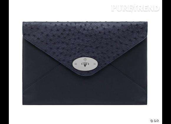 Must have : Willow, le nouveau it-bag Mulberry    Modèle Oversized Willow Clutch Navy