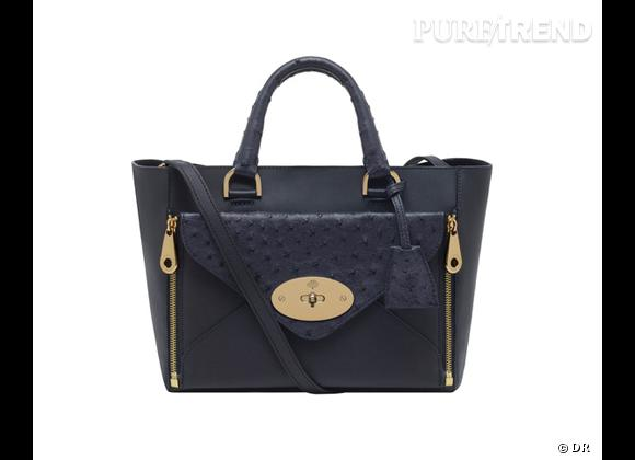 Must have : Willow, le nouveau it-bag Mulberry    Modèle Small Willow Tote Classic Navy