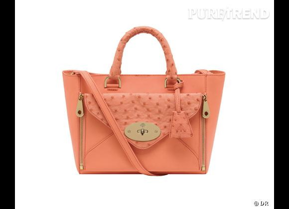 Must have : Willow, le nouveau it-bag Mulberry    Modèle Small Willow Tote Classic Bright Apricot