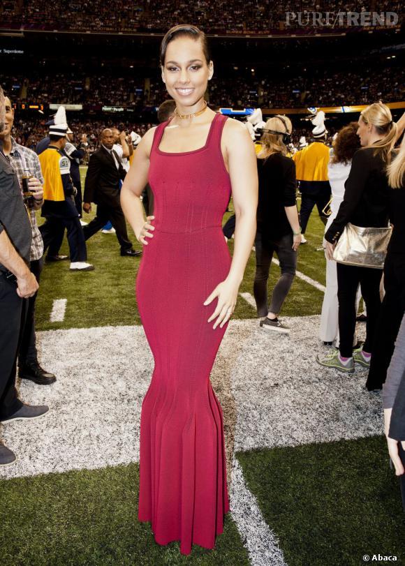 Alicia Keys au Super Bowl 2013.