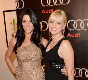 Ashley Greene et Anna Faris au Super Bowl 2013 pour la soirée Audi.