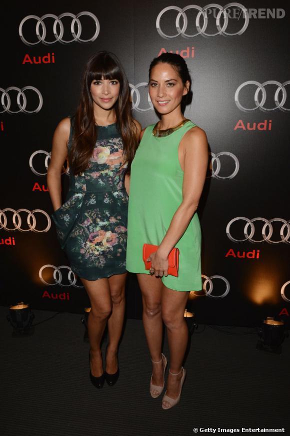 Hannah Simone et Olivia Munn au Super Bowl 2013 X soirée Audi.