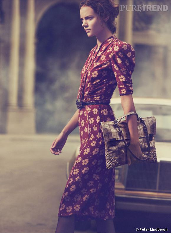 Campagne Bottega Veneta Printemps-Eté 2013 avec le top Freja Beha Erichsen.
