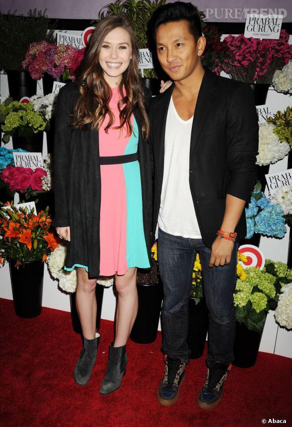 Elizabeth Olsen au lancement de la collection de Prabal Gurung pour Target à New York le 6 février 2013.